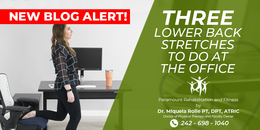 3 lower back stretches to do at the office