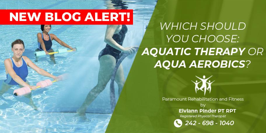 Aqua Therapy Vs Aqua Aerobics